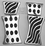 Alice Seely Double Deco Spots & Stripes Earrings-Clip