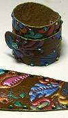 Whimsical Originals Multi Flower Wrap Cuff Bracelet