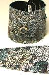Whimsical Originals Denim Floral Wrap Cuff Bracelet